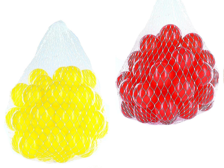 100 Bälle für Bällebad gemischt mix mit rot und gelb mybällebad
