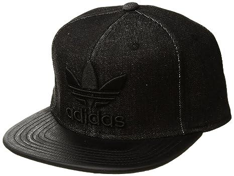 promo code e7c59 26d90 ... official store adidas mens originals trefoil plus precurve structured  cap black denim black one size 17c9d ...