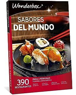 WONDERBOX Caja Regalo -SABORES del Mundo- 390 restaurantes para Dos Personas