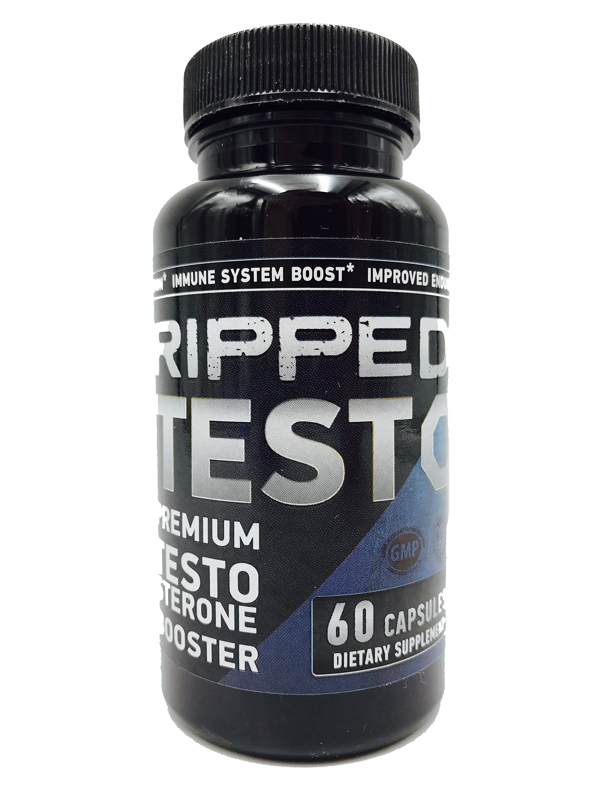 Ripped Testo- Perform at Your Peak - Supports Lean Muscle Growth 60 Capsules