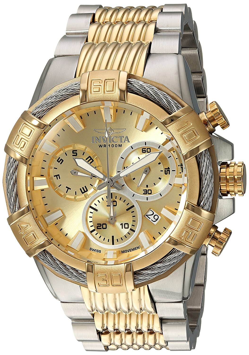 Invicta Men s Bolt Quartz Watch with Two-Tone-Stainless-Steel Strap, 16 Model 25864 25513
