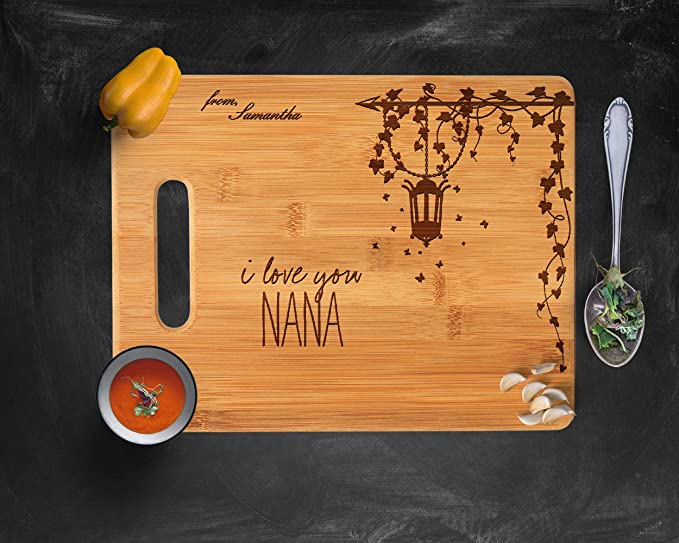 Personalized Cutting Board Grandma/'s Rules Mother/'s Day Gift for Mom Kitchen Decor Chickens Rooster and Hen Rustic Decor