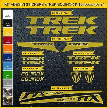 Kit Pegatinas Stickers Bicicleta Trek Equinox - Kit 9-14 Piezas- Bike Cycle Cod. 0904 (091 Oro): Amazon.es: Deportes y aire libre