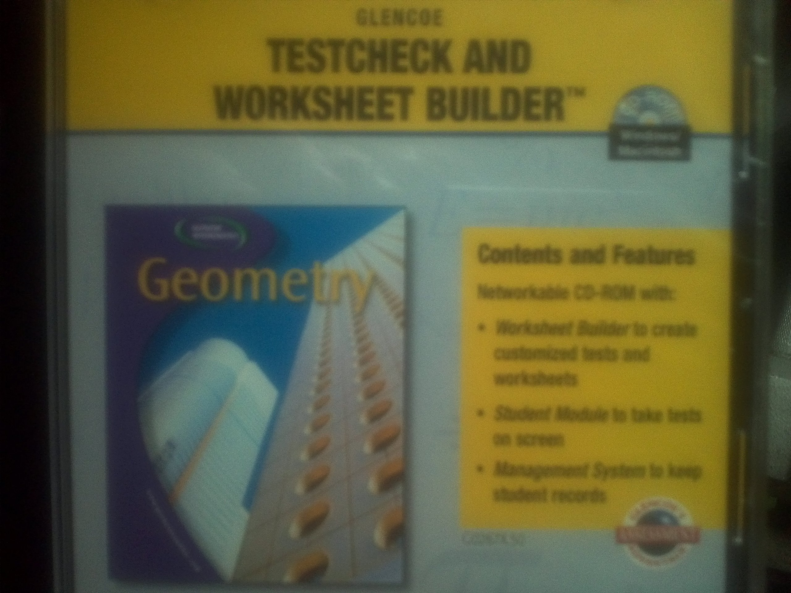Geometry Concepts and Applications Testcheck and Worksheet – Worksheet Builder