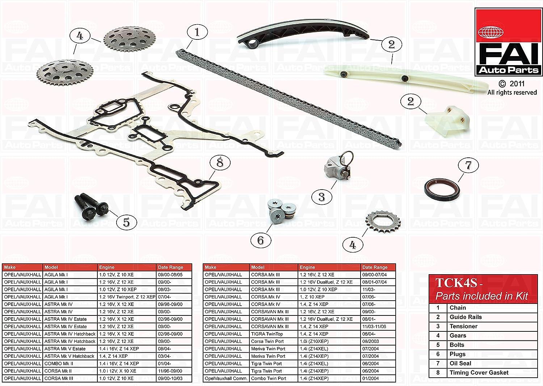 Fai Autoparts kit catena TCK4S