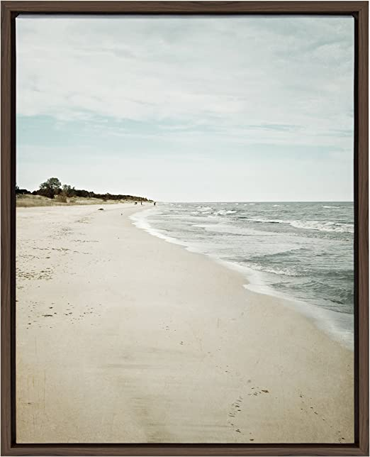 SHORELINE SEA OCEAN Art Print Poster Looking Out To Sea Photography Wall Picture