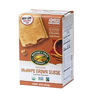 Nature's Path Frosted Mmmaple Brown Sugar Toaster Pastries, Healthy, Organic, 11-Ounce Box (Pack of 12)