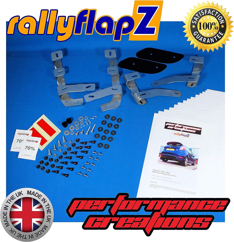 Black 4mm PVC Logo Pink RFFST180-BLK-RF-HP rallyflapZ//Set of 4 Custom Made Mud Flaps Including Fixing Hardware /& Instructions