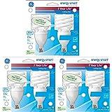 GE 13-Watt (60-Watt Replacement), 850 Lumens, Instant On Mini Spiral CFL Light Bulbs - 6 Bulbs