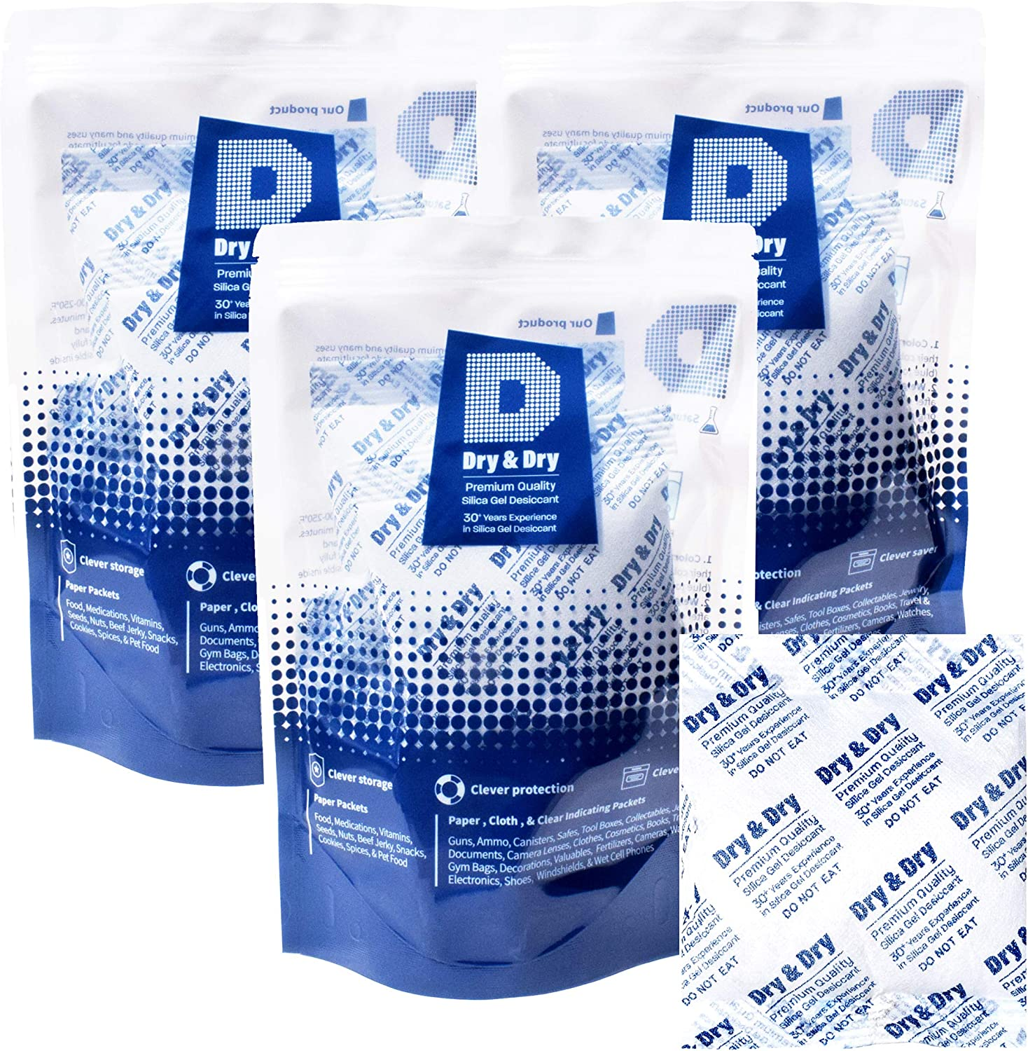 Free Shipping! 100-Pack Wisepac Desiccant 8g Bags