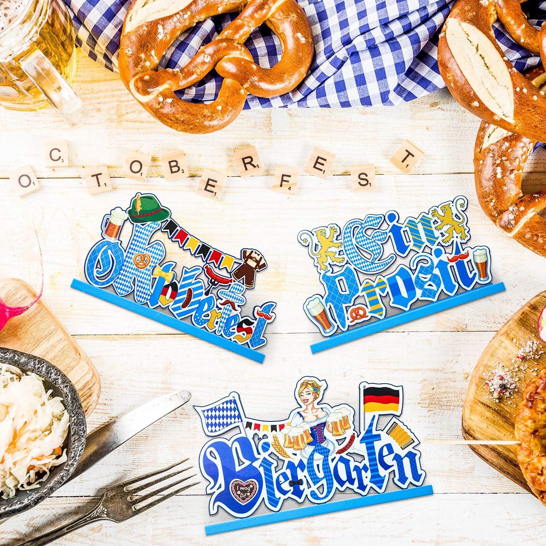 Oktoberfest Dekoration Festzelt Lederhose Bayern Bier Brezel Mottoparty