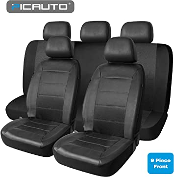 10-PIECES Full Set Luxury Car Seat Cover Set Front /& Rear Cushion Universal Fits