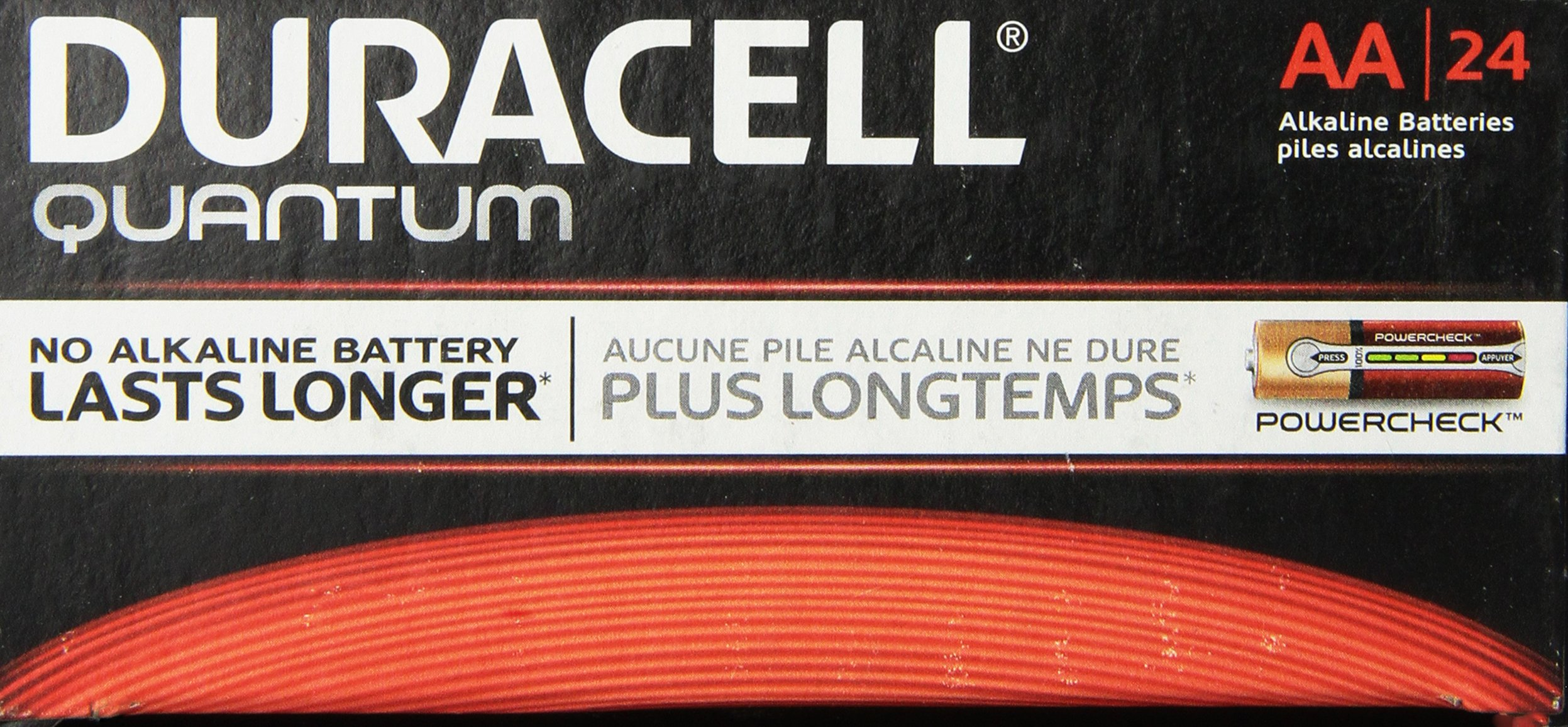 Duracell - Quantum AA Alkaline Batteries - Long Lasting, All-Purpose Double A Battery for Household and Business - Pack of 24