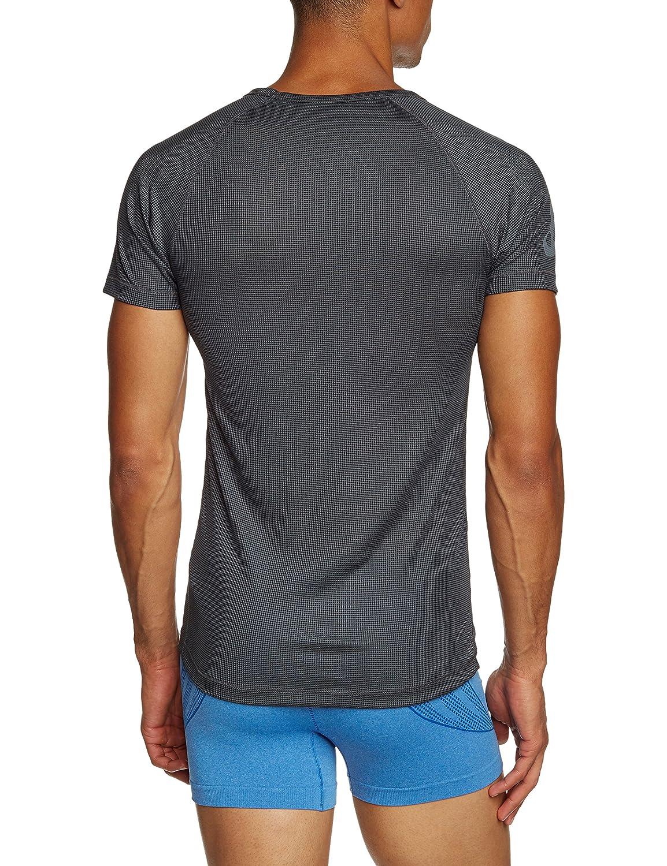 Odlo Unterhemd Shirt Short Sleeve Crew Neck Logo Line Top Interior t/érmico para Hombre