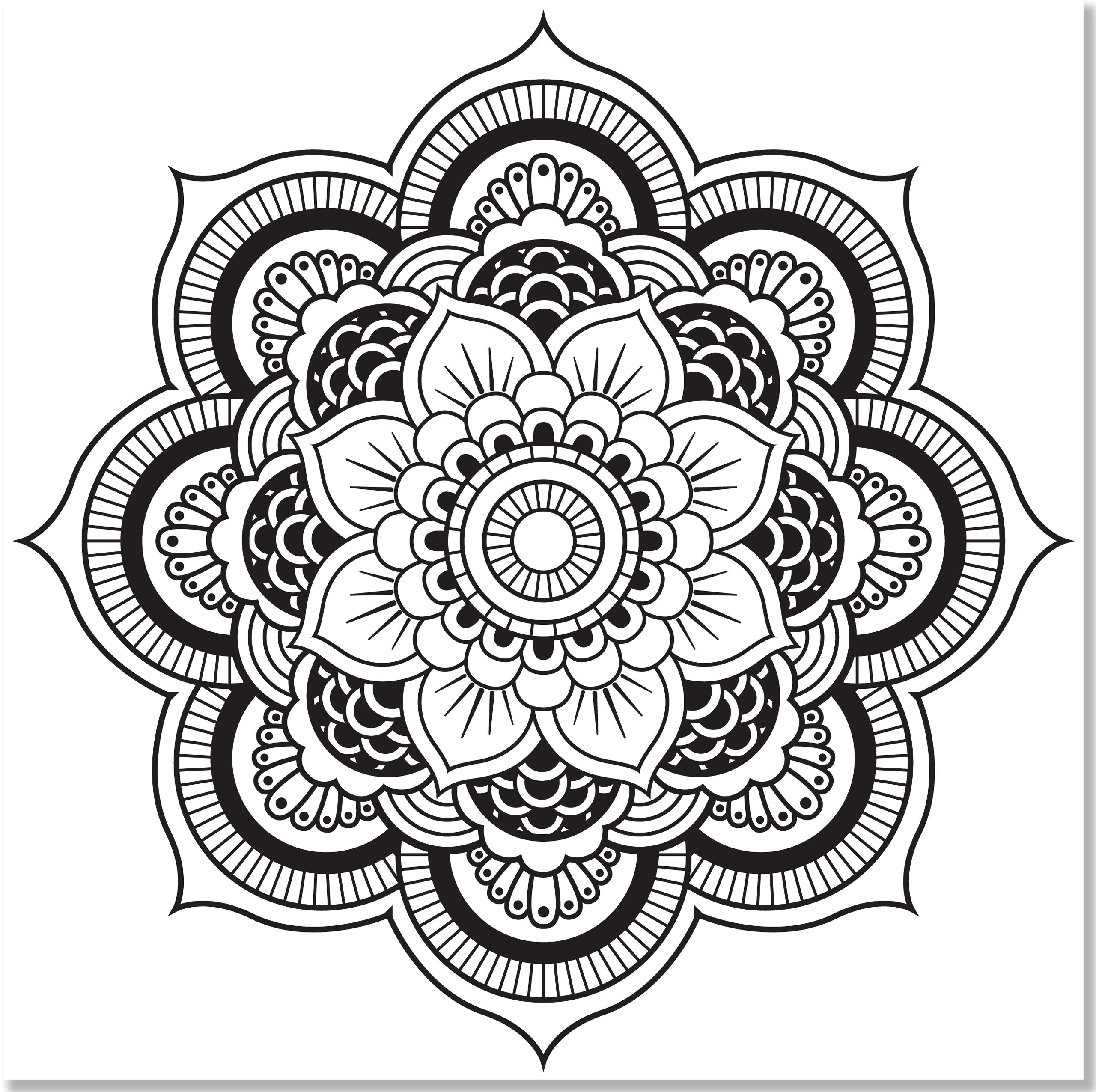 Amazon.com: Mandala Designs Adult Coloring Book (31 stress ...