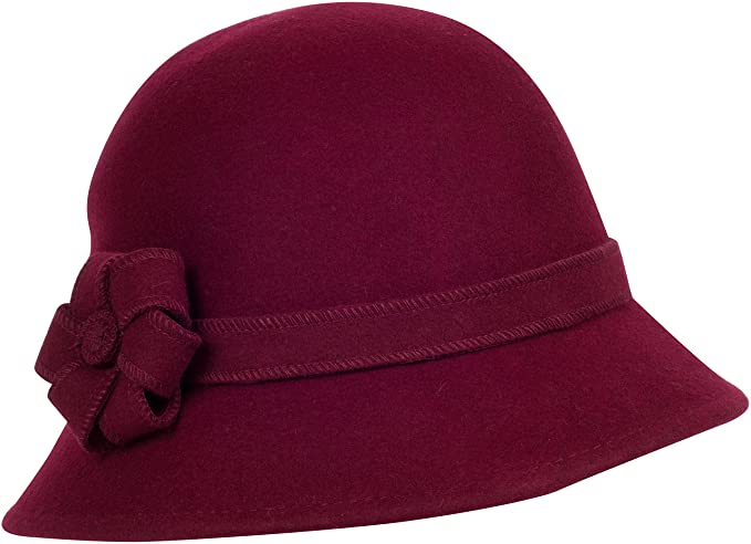 Sakkas Molly Vintage Style Wool Cloche Hat  AT vintagedancer.com