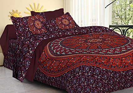 Camere Da Letto Stile Hippy : Ganesham mandala indiano hippie queen tapestry doona cover