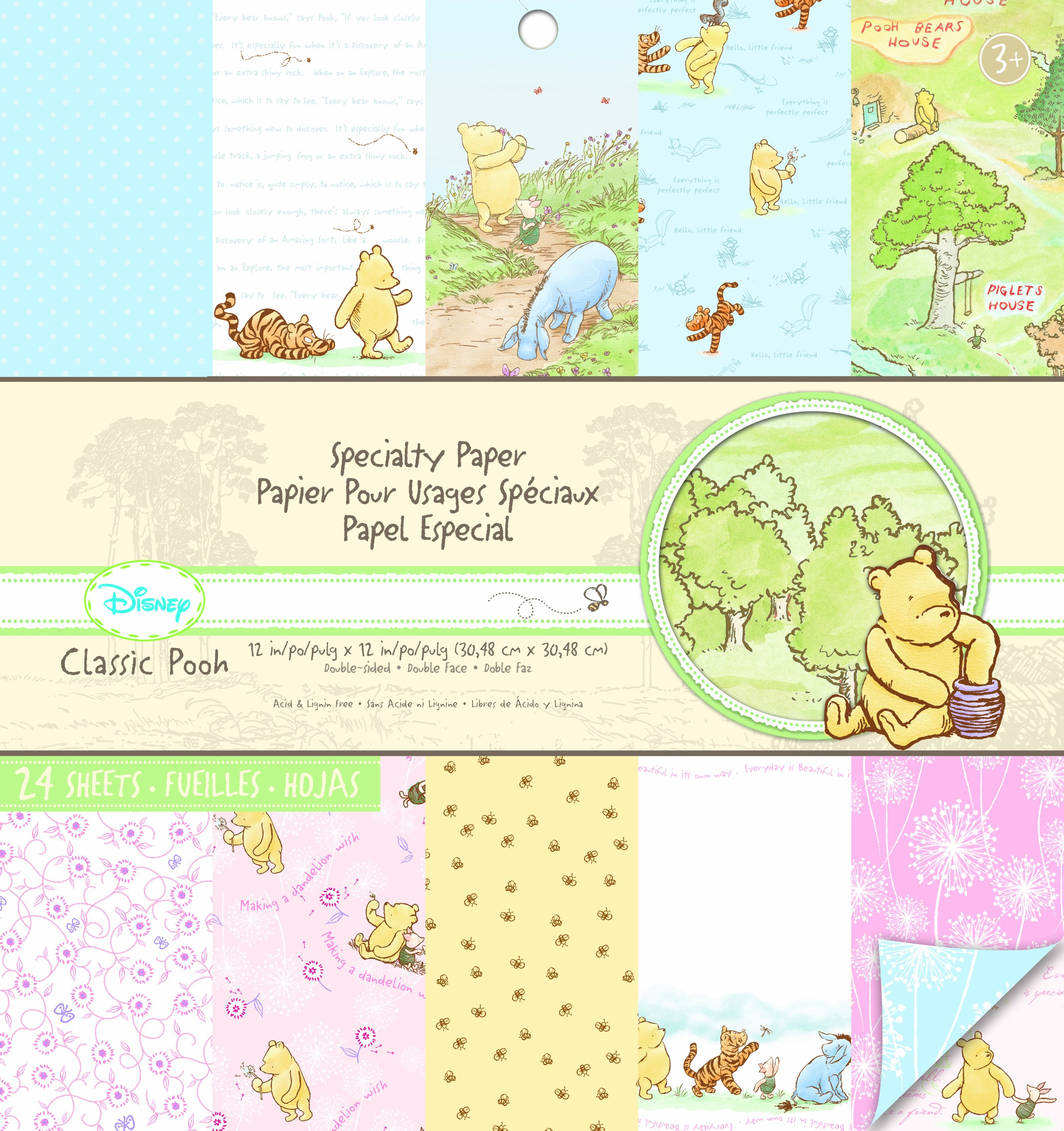 EK Success Brands Disney Specialty Paper Pad, Classic Pooh