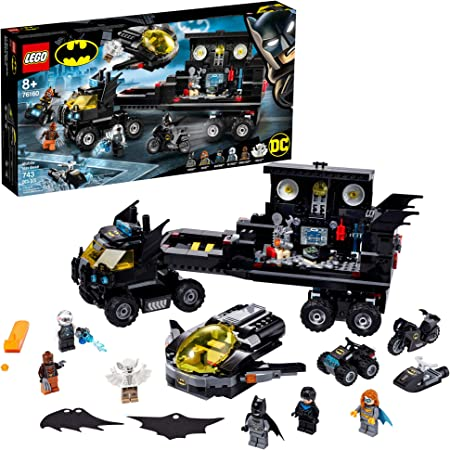 LEGO DC Mobile Bat Base 76160 Batman Building Toy, GOTHAM CITY Batcave Playset
