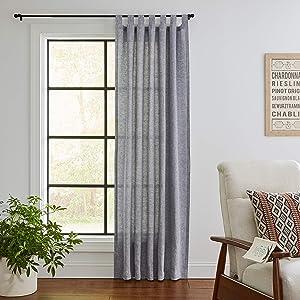 Amazon Brand – Stone & Beam Rustic Chambray Curtain Panel - 84 x 52 Inch, Navy