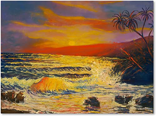 Maui Sunset Canvas Wall Art