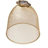 Rustic State Industrial Retro Style Mesh Wire Cage for Pendant Ceiling Lamp (Gold)