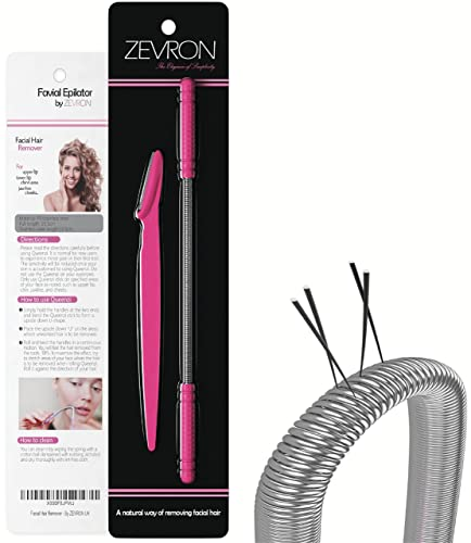 Facial Hair Remover Kit — Quick and Effective Epilator for Removing Unwanted Facial Hair — Includes Eyebrow Razor/Trimmer