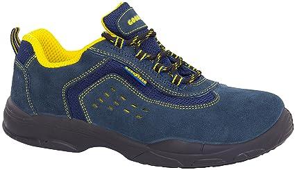 Goodyear G138843C - Botas (piel serraje, talla 45) color azul