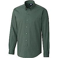 Cutter & Buck Mens Men's Anchor Gingham Shirt Button Down Shirt - Green - 5XB