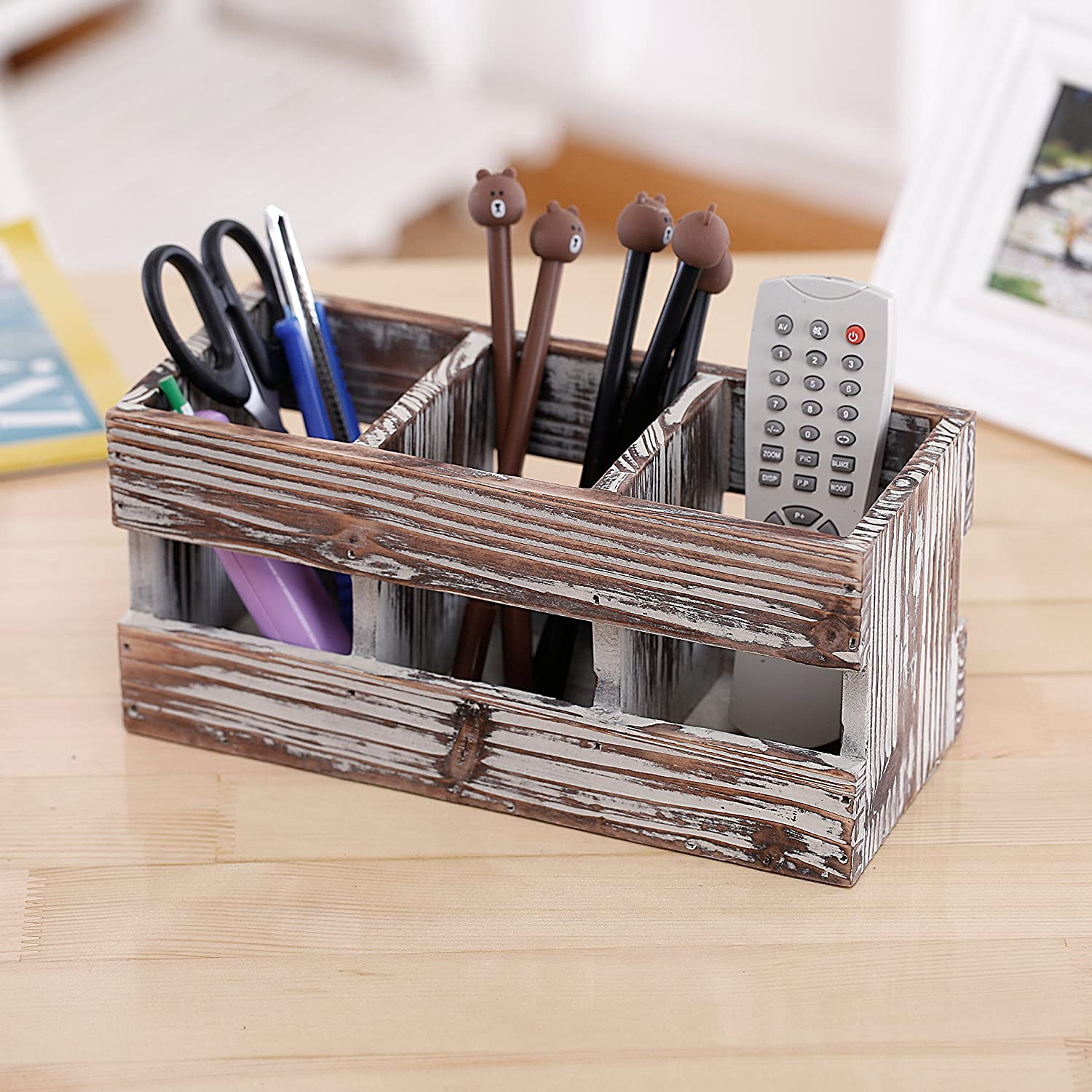 Compartment Torched Desktop Supplies Organizer Image 3
