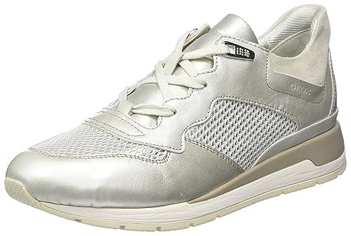 D Shahira B, Zapatillas para Mujer, Plateado (Platinum/ivoryc2228), 38 EU Geox
