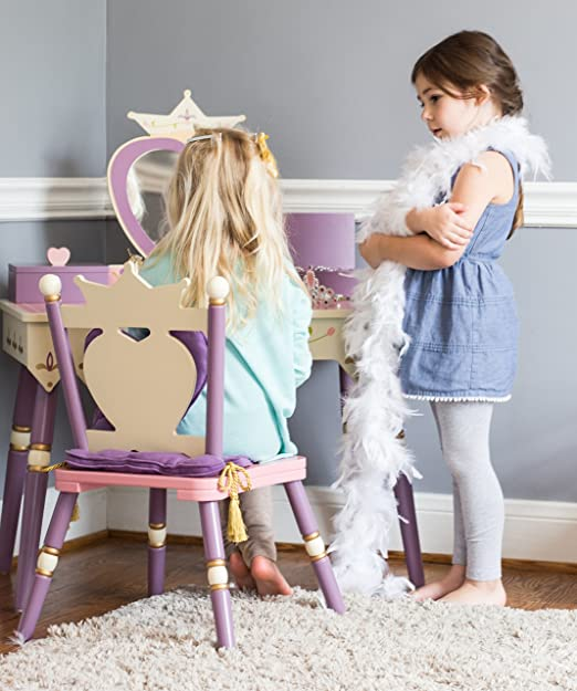 Elegant Kidkraft Princess Vanity And Stool For House Design Table Chair Set