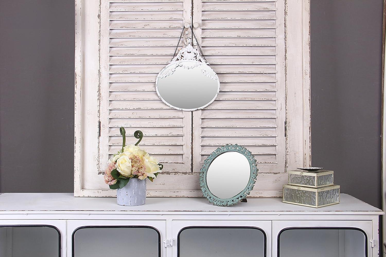 NIKKY HOME 26,5 cm Vintage Metall Wandspiegel H/ängenden Spiegel Alten Stil f/ür Haus Raumdekoration