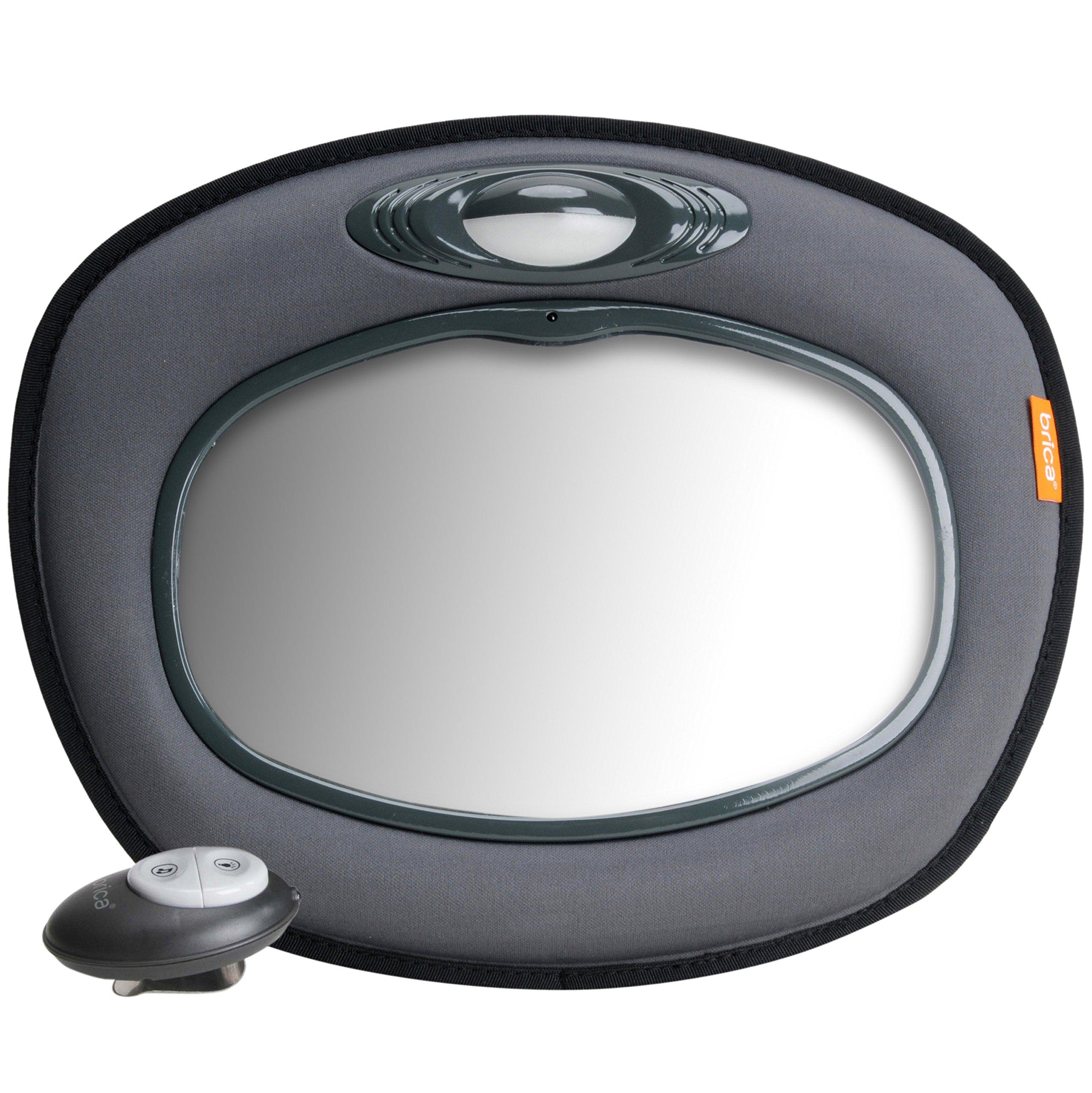 Brica Day and Night Light Musical Auto Mirror, Grey