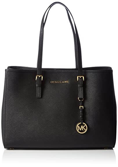 45590b9d5c757a Michael Kors Womens Jet Set Travel Tote Black: Amazon.co.uk: Shoes ...