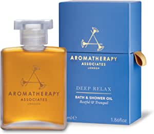 Aromatherapy Associates Deep Relax Bath And Shower Oil, 1.86 Fl Oz, with earthy Vetivert, soothing Camomile and comforting Sandalwood essential oils