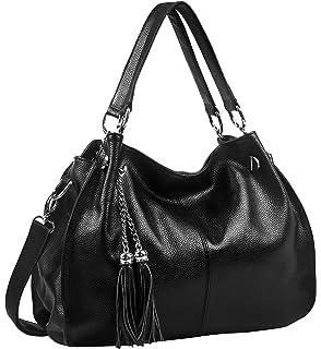 59124e935fde Amazon.com  Montmo Women Soft Leather Handbags Casual Simple Hobo ...