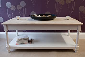 Beautiful Casamore Vintage Cotswold Coffee Table With Lime Wash Finish    FREE DELIVERY
