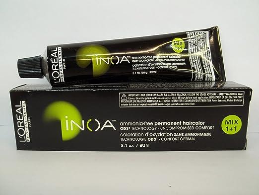 amazoncom loreal inoa ammonia free permanent hair color 606nn 21 oz chemical hair dyes beauty - Coloration Inoa Prix