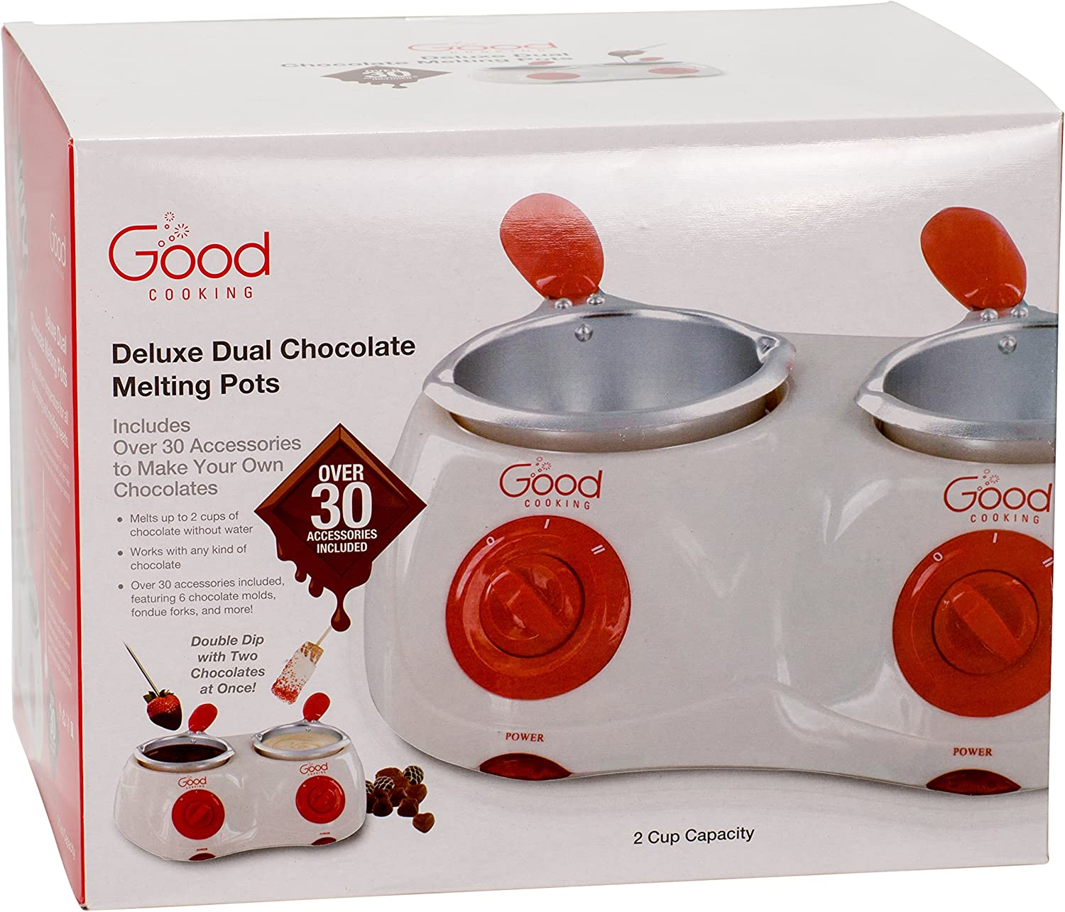 Electric Chocolate Fondue Melting Pot with Over 30 Accessories and 12 Recipes