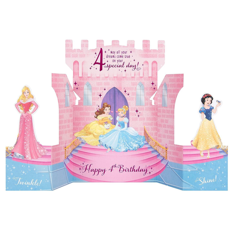 Hallmark disney princess 4th birthday card pop up castle medium hallmark disney princess 4th birthday card pop up castle medium amazon office products m4hsunfo