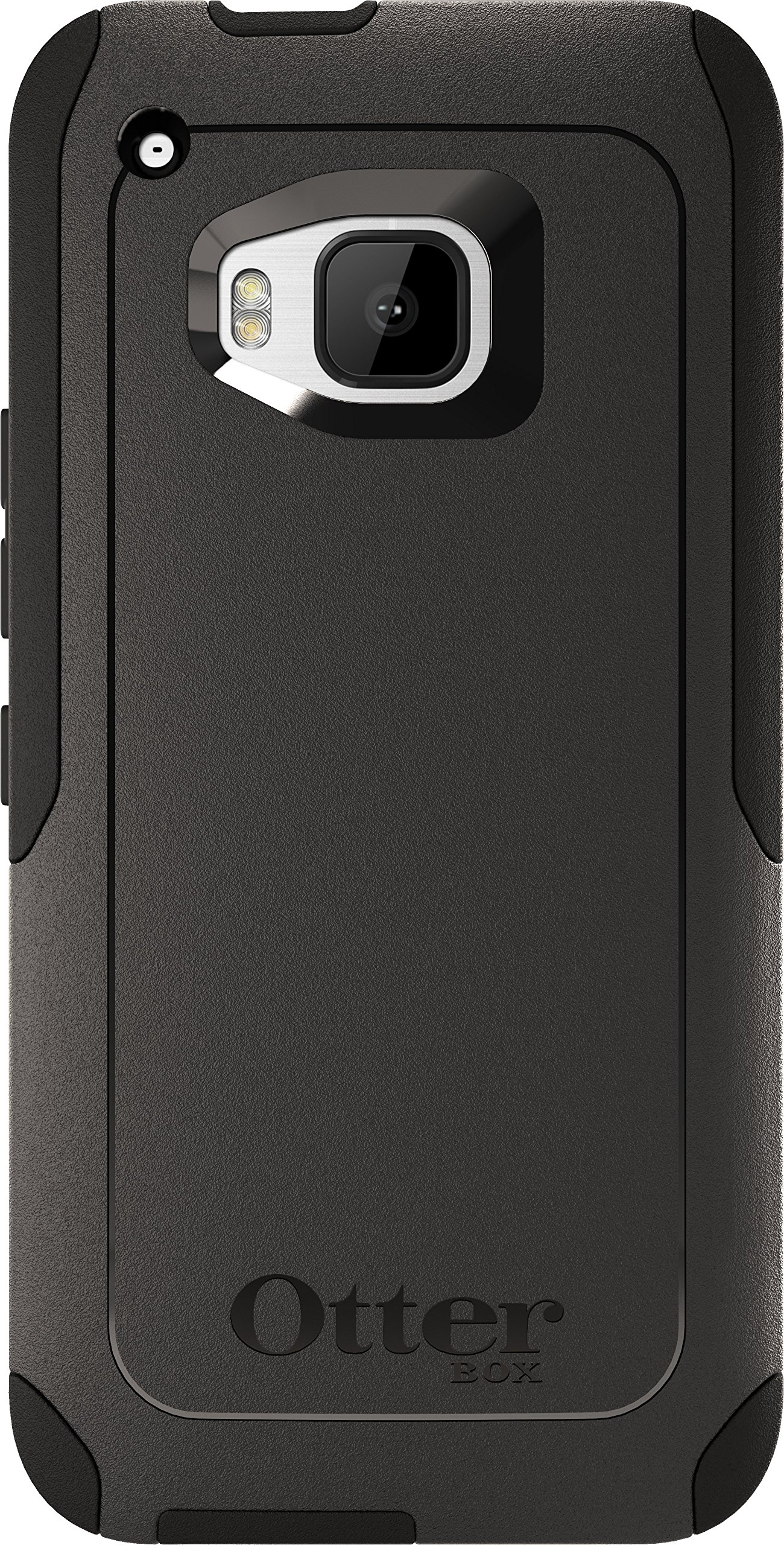 OtterBox Commuter Case for HTC One M9 - Retail Packaging - Black (Black/Black)