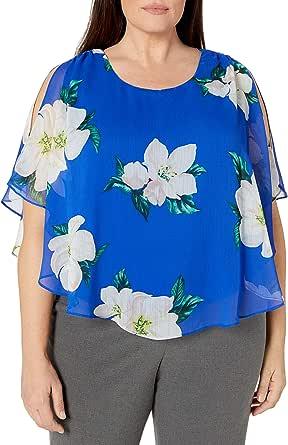 AGB Women's Plus Size Fashion Popover Top
