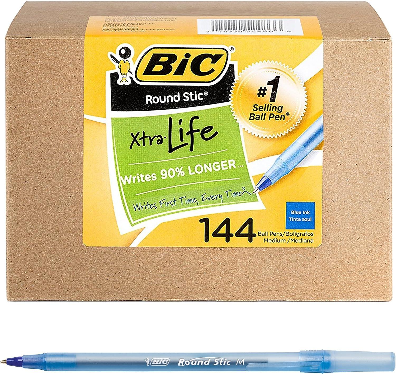 BIC Round Stic Xtra Life Ballpoint Pen: 44 Count! .79 at Amazon!
