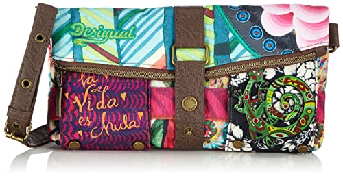 Desigual Clutch/Bruselas Carry - Cartera De Mano para mujer, color grün (verde