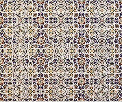 Casa Moro Eine Musterfliese Habib 44,1 x 44,1 cm aus Feinsteinzeug FL6030M Marokkanische Patchwork Keramik-Fliese f/ür sch/öne K/üche Flur Bad /& K/üchenr/ückwand