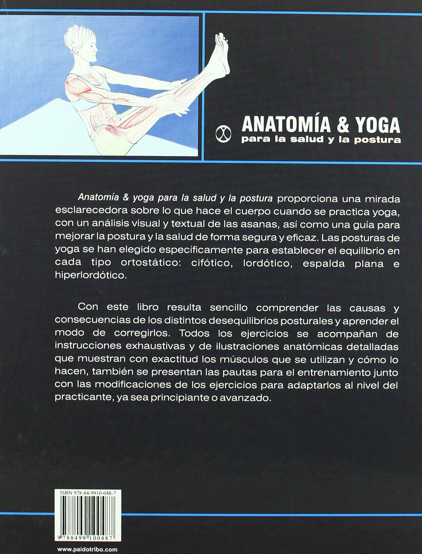 ANATOMIA A & YOGA para la salud y la postura (Carton y color ...