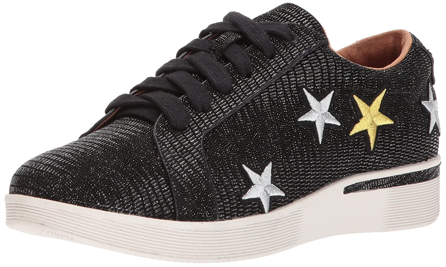 Gentle Souls by Kenneth Cole Women's Haddie Low Profile Fashion Sneaker Embossed Fashion Sneaker B0713X79T1 5 M US|Black