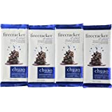 Chuao Chocolatier Firecracker Dark Chocolate Bar, 2.82-Ounce Bars (Pack of 4)