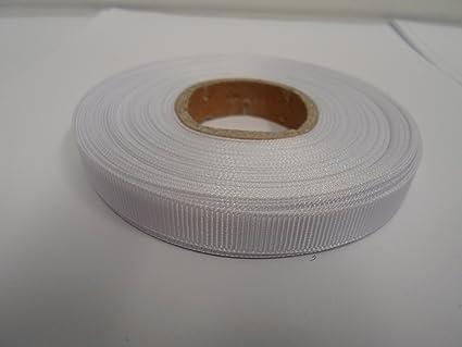 2 m di nastro in tessuto gros grain 10 millimetri colore: bianco